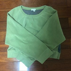 Urban Outfitters Green Crewneck with Mesh Back